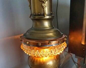 Antique Vintage Desk Table Lamp Light Machine Age Steampunk.
