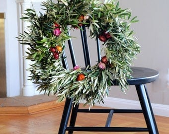 Paper Daisy and Olive Wreath | Summer Wreath | Summer Wreaths for Front Door | Front Door Wreaths | Wreaths for Front Door