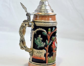 Vintage German Beer Stein / Ceramic mug / Western Germany Beer Stein