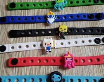 10  Adventure Time Silicone Bracelets Party Favors