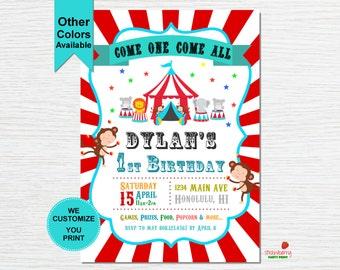 Circus Birthday Invitation, Carnival Invitation, Circus Theme Party, Carnival Birthday, Carnival Themed Party, Party Printable