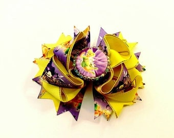 Tinkerbell hairbow, handmade hairbow, boutique hairbow