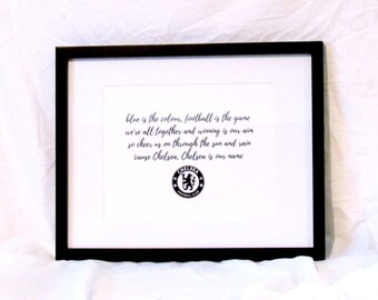 Chelsea Football Club Song Blue Is The Colour Chelsea FC Anthem Football Print Soccer Print Instant Download