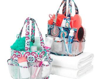 Monogrammed Shower Caddy Bag / Shower Caddy / Monogrammed Dorm bag / Monogrammed College  / Graduation gift