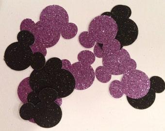 Purple and Black Minnie Mouse Confetti/Minnie Mouse Confetti