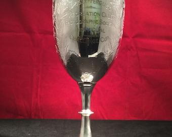 "Antique Silver Goblet - J. Wilmot - Birmingham - 1905 - ""Recreation Club Photographic Society Individual Challange Cup"""