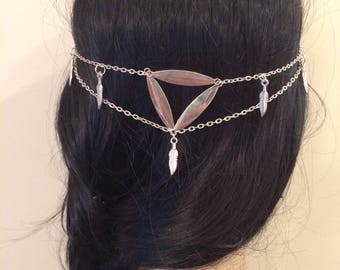 Metal headband, boho headband, hair jewelry