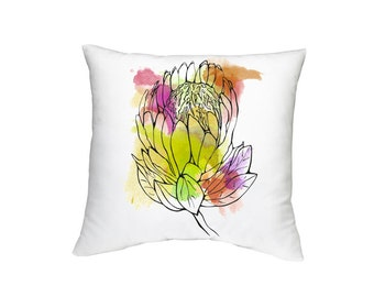 Protea Throw Pillow Case (Cover ONLY)