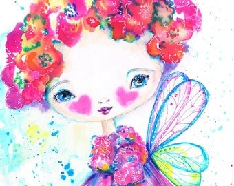4 Flower Fairy Prints