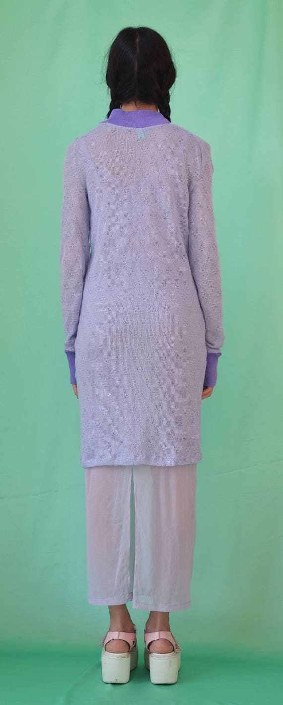 LILAC JUMPER sweater pastel purple knitted dress