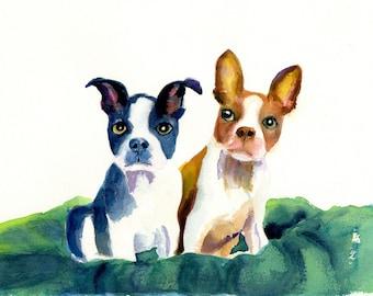 Boston Terrier Art,dog art,Boston Terrier, dog art prints, boston terrier prints, watercolor boston terrier, nursery