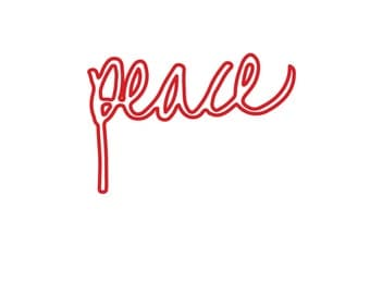 Christmas print A4 and A3, Christmas gift hand lettering - PEACE