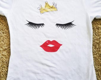 Crown eyelash shirt