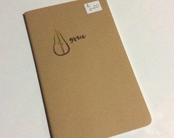 Embellished Moleskine notebook insert