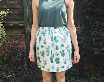 Green Cactus Skirt
