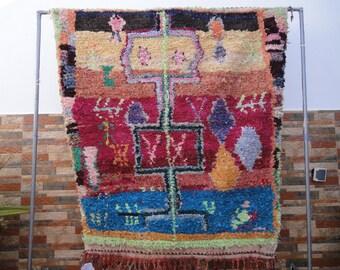 boucherouite rug vintage moroccan berber