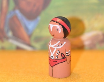 Peg dolls - Aboriginal Australia - toys wooden