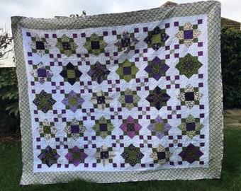 Lots of Lilacs handmade quilt