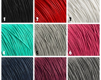 28 couleurs - 1 mm cordon en fil coton ciré, choisissez votre longueur, cordon tressé 1mm, pour les bracelets de shamballa, macramé, mala