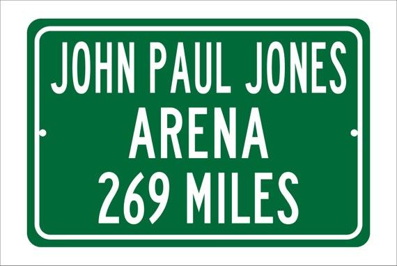 Custom College Highway Distance Sign to John Paul Jones Arena | Home of the University of Virginia Cavaliers | Cavaliers Basketball | UVA