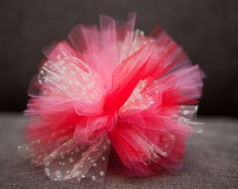 Glitter Tulle Hair Poof/Clip - Other Colors Available