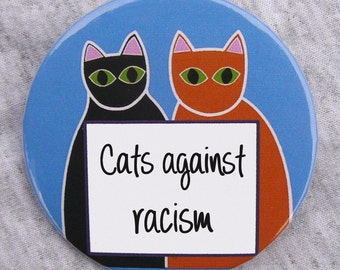 Cats Against Racism button