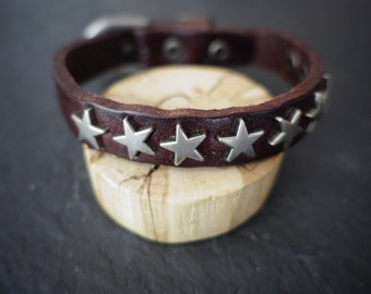 woman leather bracelet for men, mixed leather bracelet leather bracelet stars bracelet.