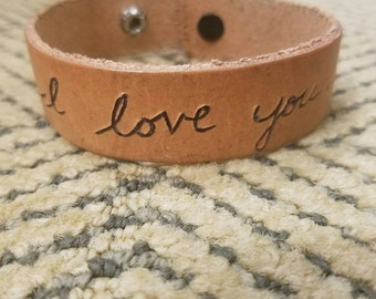 Men's leather wristband