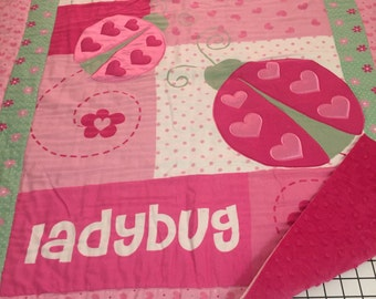 Love Bug Lady Bug Baby Quilt