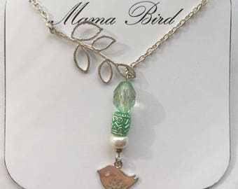 Mama Bird Charm Necklace