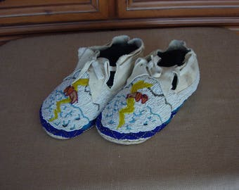 Fully Beaded Moccasins Native American