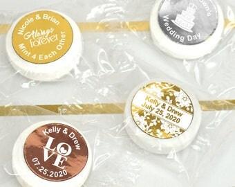 Foil Wedding Favor Mints, Personalized Life Savers Mints, Wedding Favors, Wedding Mints, Personalized Mints - Set of 100