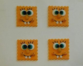 SpongeBob cupcake toppers.