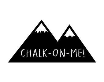 Chalkboard Mountains Mini ~Chalkboard Decal~Nursery Wall Stickers~Nursery Decor~Chalkboard Wall Sticker~Mountains Wall Sticker~Wall Stickers