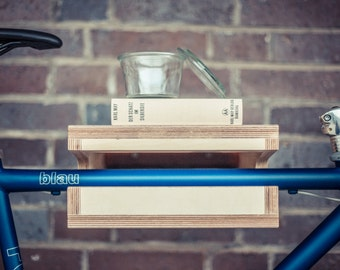 "Bicycle wall mount ""FRIEDRICH"" made of wood. Bikeshelf 