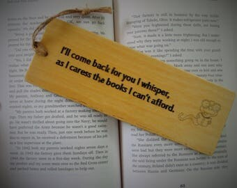 Reading Nerd Bookmark Wood