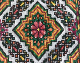 Ukrainian Handmade Embroidered Pillows Case Gobelin.