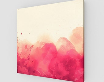 Red splashes canvas
