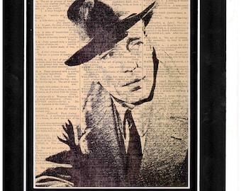 Humphrey Bogart Vintage Art