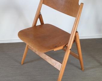 Mid century 60s 70s Egon Eiermann folding chair SE 18 by Wilde & Spieth