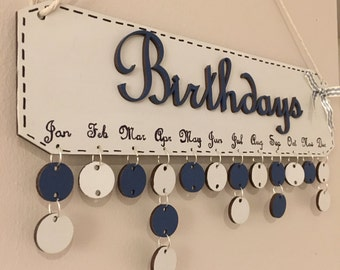 Family Birthday reminder, Calender, plaque, board, wooden calender, wall hangings, mothers day gift