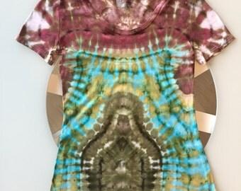 Tie Dye Handcrafted Womens T-Shirt Size: Medium
