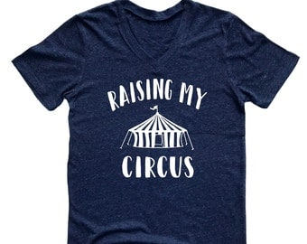 Unisex Tri-Blend V-Neck Raising My Circus