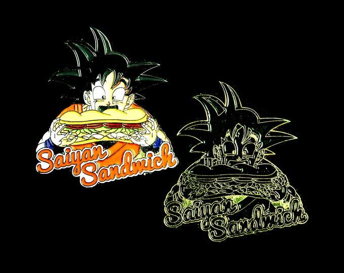 Saiyan Sandwich Goku Dragonball Z Pin - 2 Pack - SASA01 + SASA02
