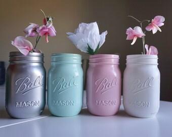 4 Pint Size Mason Jars