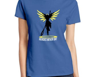 Overwatch Mercy Rez T-Shirt- Mens and Womens