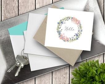 Hello Wreath | Note Card