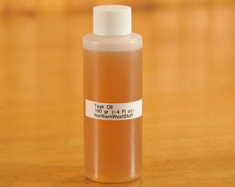 Teak Oil finish, 100 gr, About 4 fl oz - (Contact shop to request actual ship cost for multi items)
