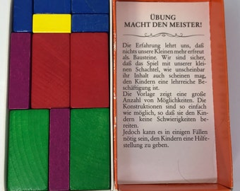Der Baumeister Vintage Building Blocks Colorful Architecture Puzzle Game Toy From Germany