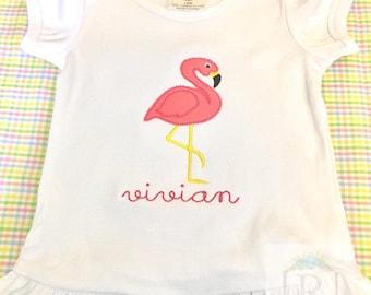 Flamingo applique shirt